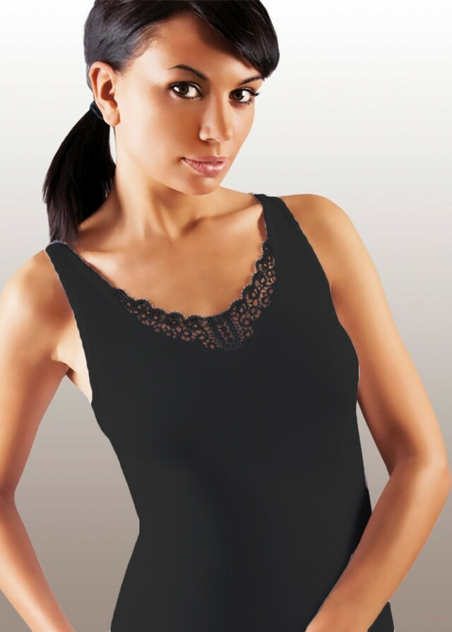 Dámská košilka Ailin plus black - XXL - černá