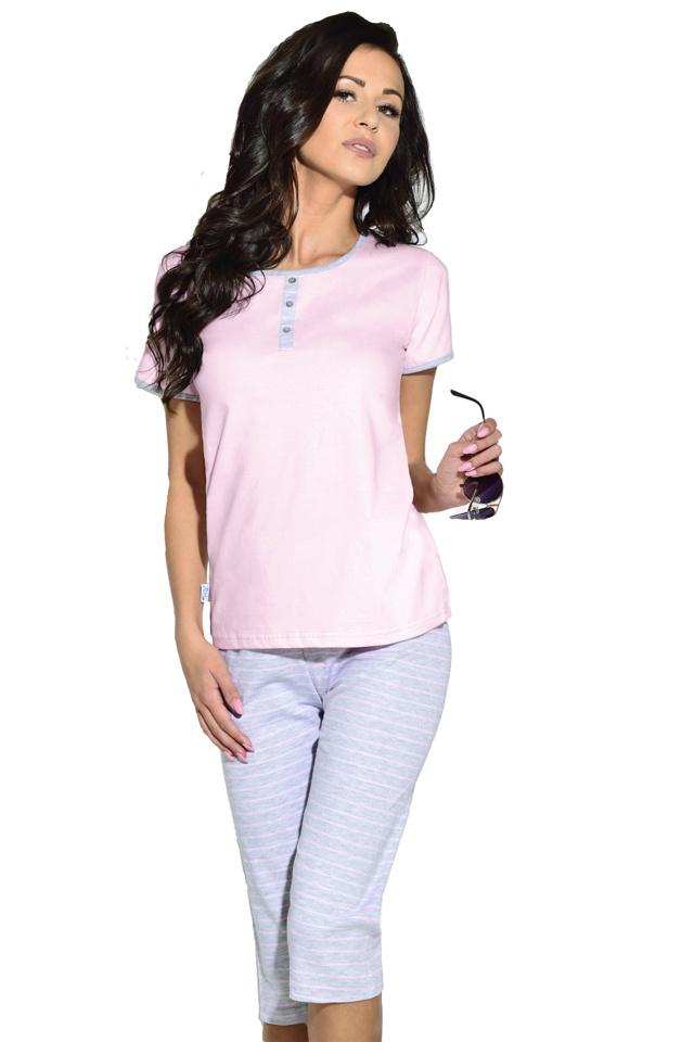 Dámské pyžamo Klaudie světle růžové - L