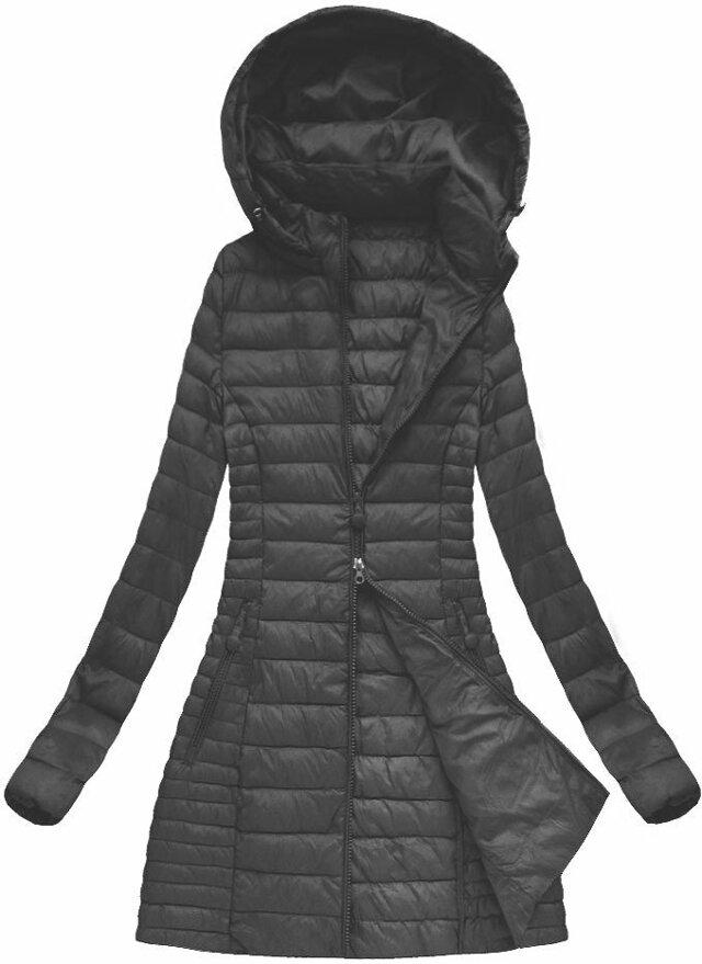 Černá dámská jarní bunda s kapucí (XB7127X) - S (36) - černá