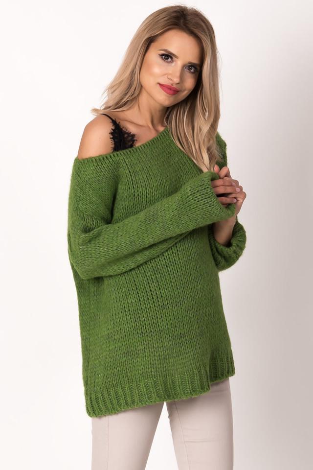 Dámský svetr Avaro SW-414 - UNI - zelená 2c0e084229