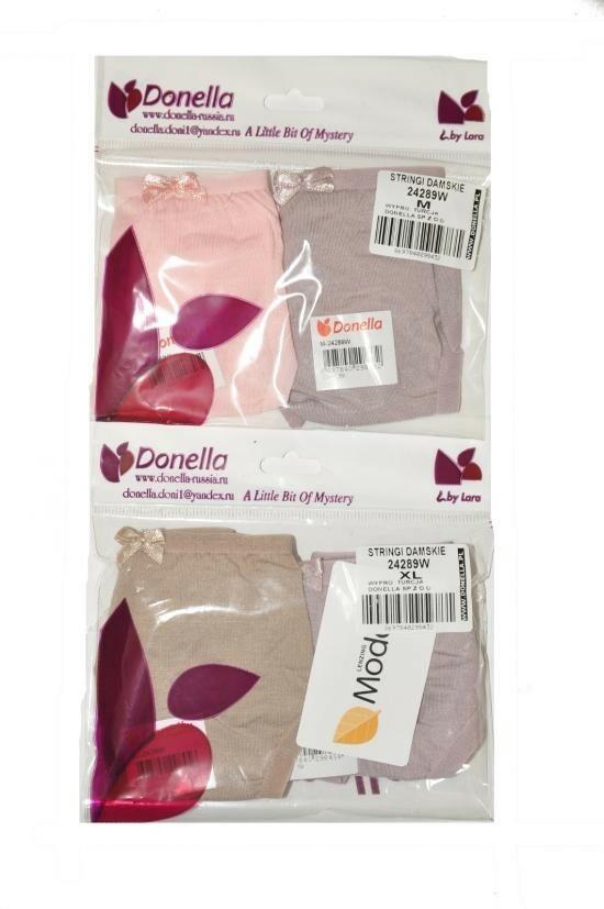 Dámské kalhotky string 24289W A'2 - Donella - M - vanilka / lila