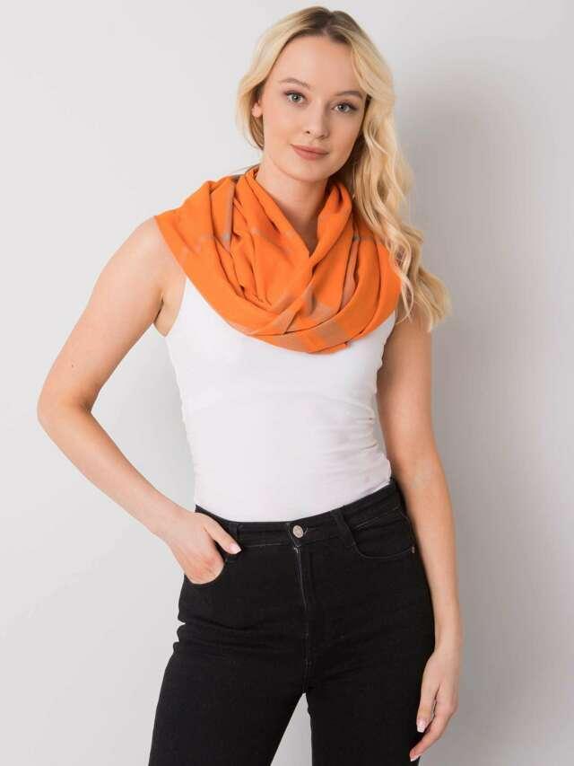 Oranžový kostkovaný šátek - ONE SIZE
