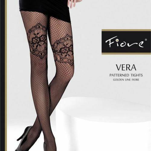 Dámské punčochové kalhoty Vera 5208 - Fiore - 4-L - černá
