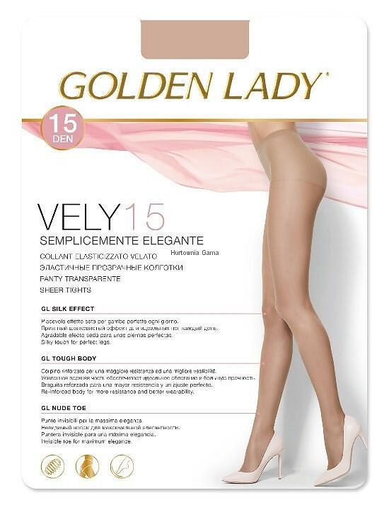 Punčochové kalhoty Golden Lady Vely 15 den - 3-M - castoro/odstín hnědé