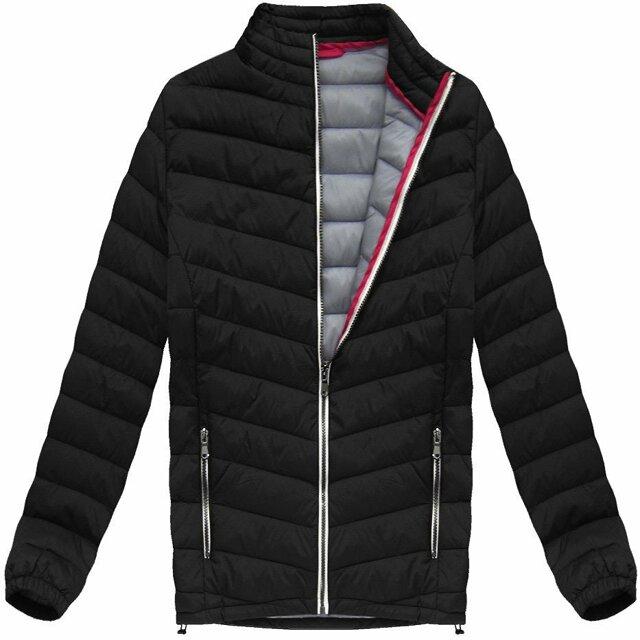 Černá prošívaná bunda (21872) - M - černá