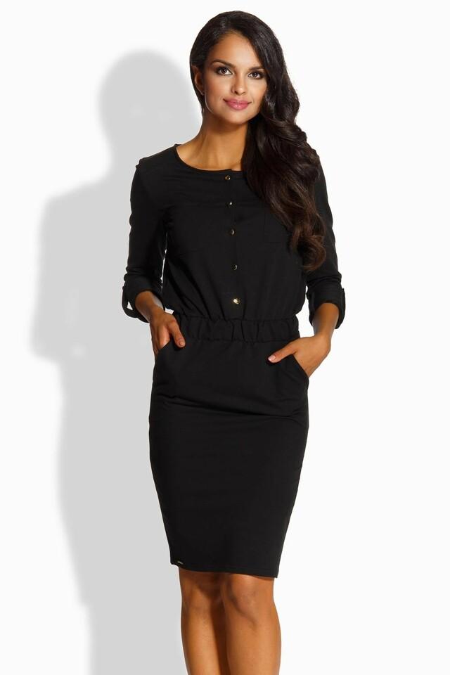 Dámské šaty L224 - Lemoniade - M - černá