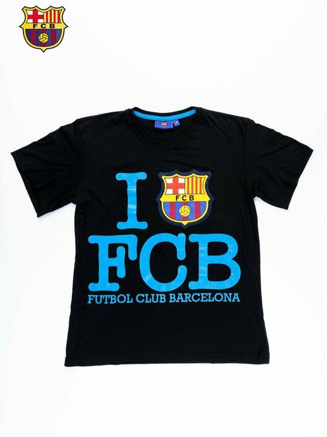 Černé pánské tričko FC BARCELONA - XL