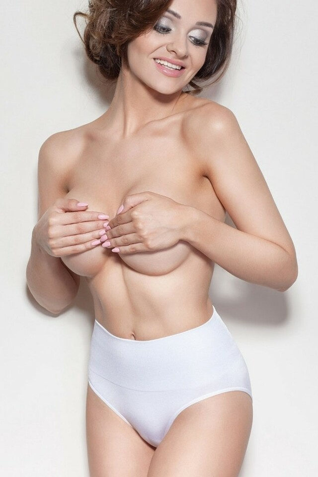 Dámské stahovací kalhotky Ona white - XL - bílá
