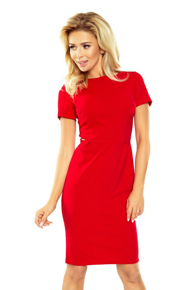 Elegantní červené šaty - L