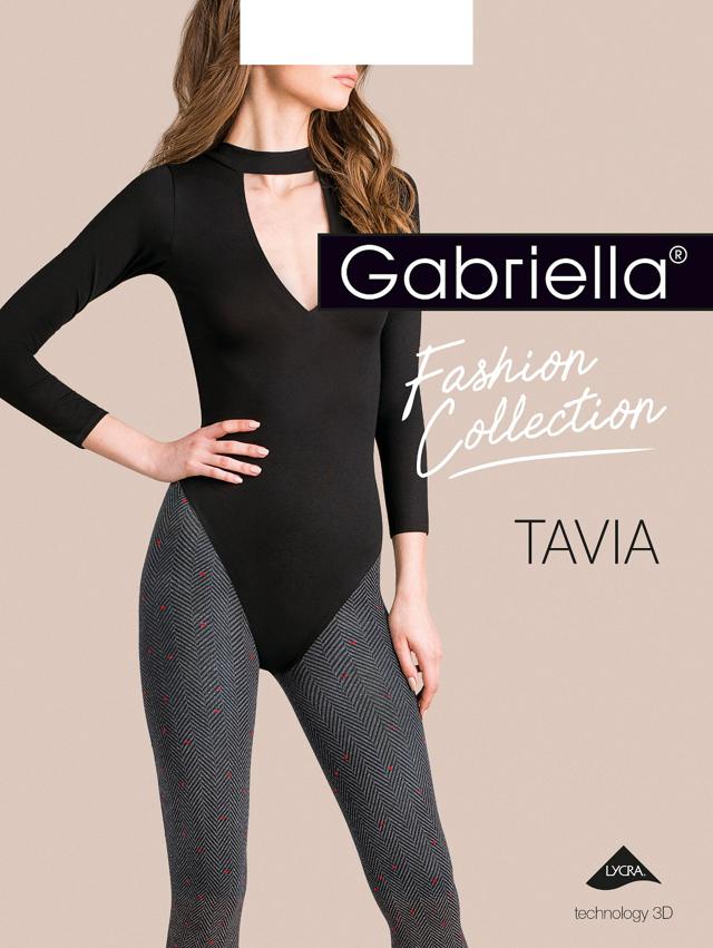 Dámské punčochové kalhoty Gabriella Tavia 3D 444 2-4 - 2-S - žíhaná
