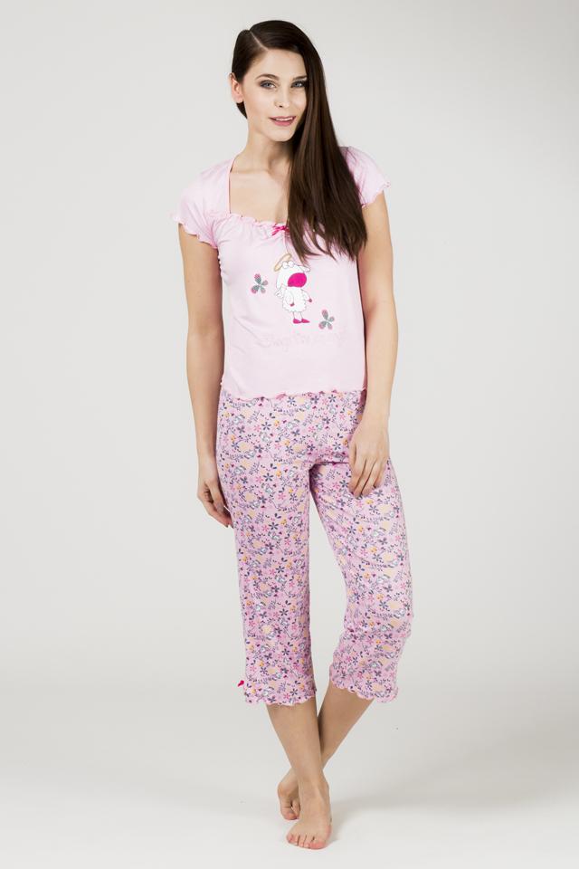 Dámské pyžamo 556 KK - Cocoon - L - růžova
