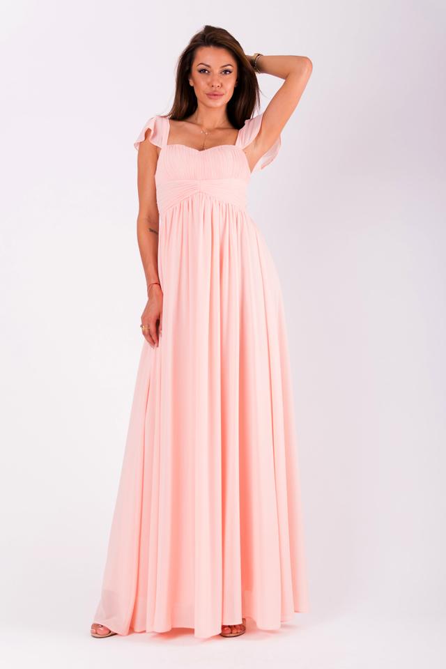755ec57489d0 Pudrově růžové šaty EVA LOLA 51006-5 - M