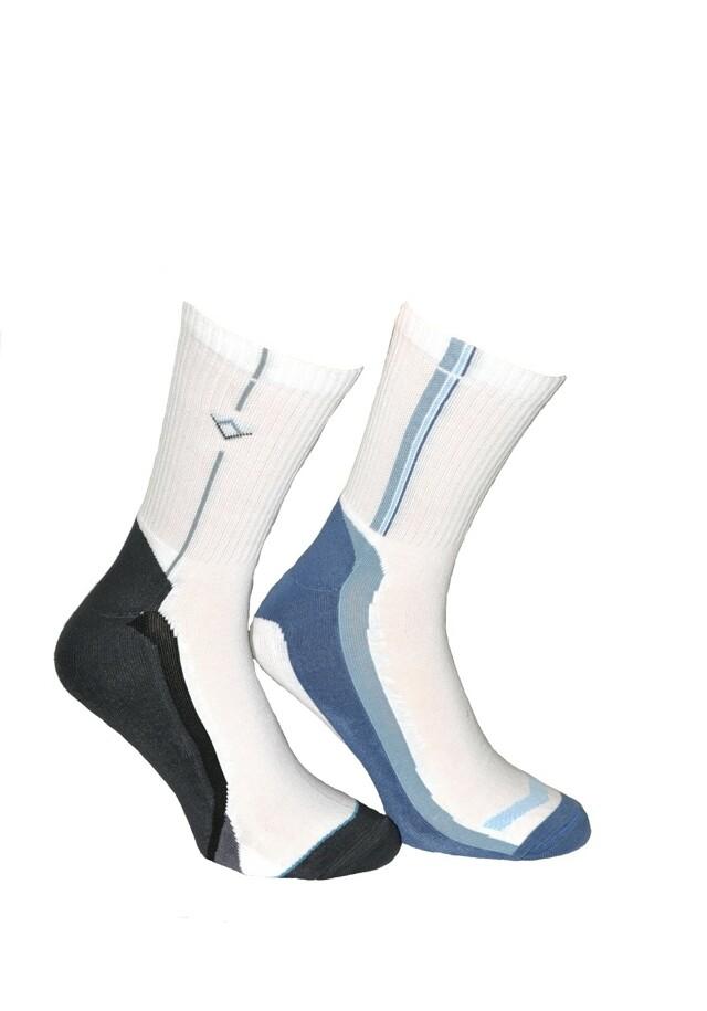 Pánské ponožky Terjax Sport Line Polofroté art.008 7049 - 29-30 - tmavá-mix vzorů