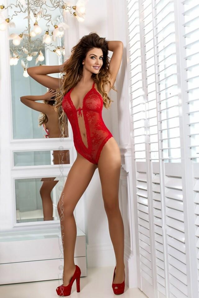 Erotické body V-6520 Vermelho