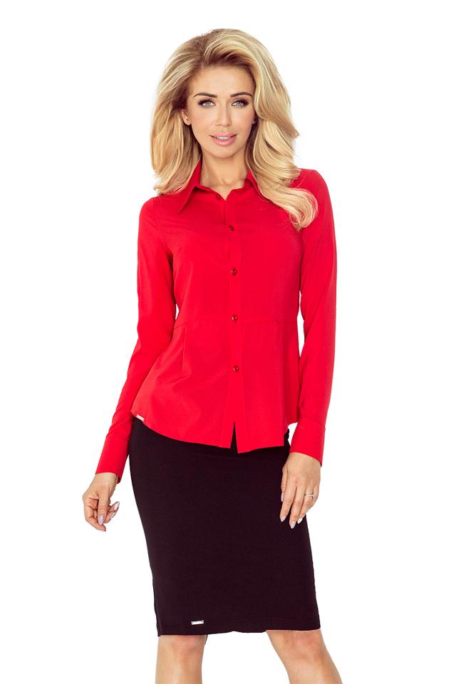Červená dámská košile MM 016-1
