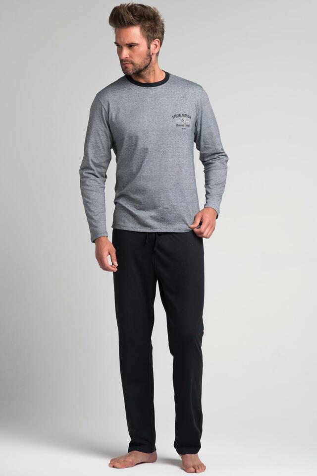 Pánské pyžamo Rossli SAM-PY 050 - 2XL - šedá/tm.šedá