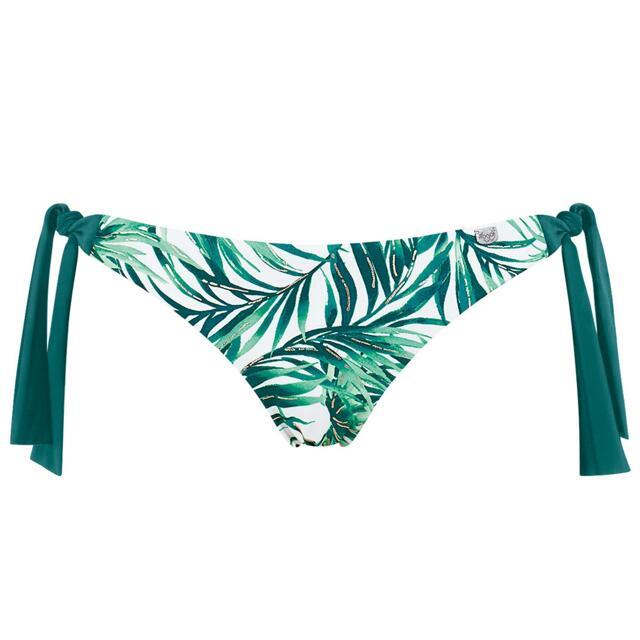 Spodní díl plavek Sloggi Swim Jade Leaves Tanga - 036 - světlá kombinace zelené (M009)
