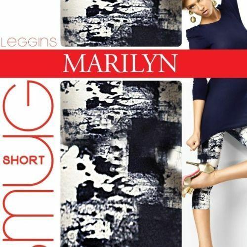 Dámské legíny 772 Smug - Marilyn - S/M - bílá/tmavě modrá