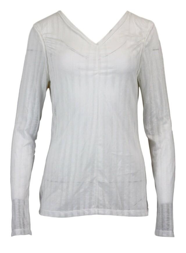 Dámské triko 14Q565 - Rich Royal - L - bílá