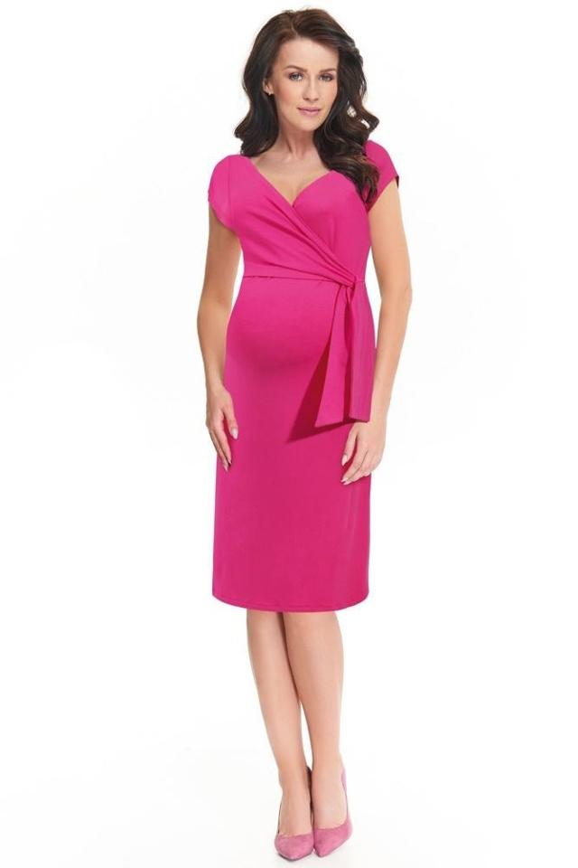 Těhotenské a kojící šaty Janisa růžové - XS