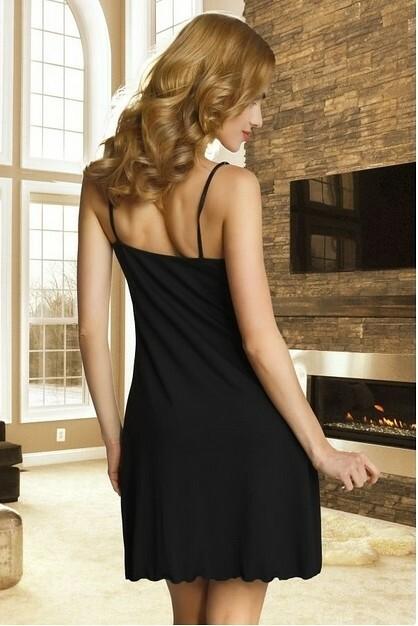 Noční košile Eldar First Lady Bona - L - černá