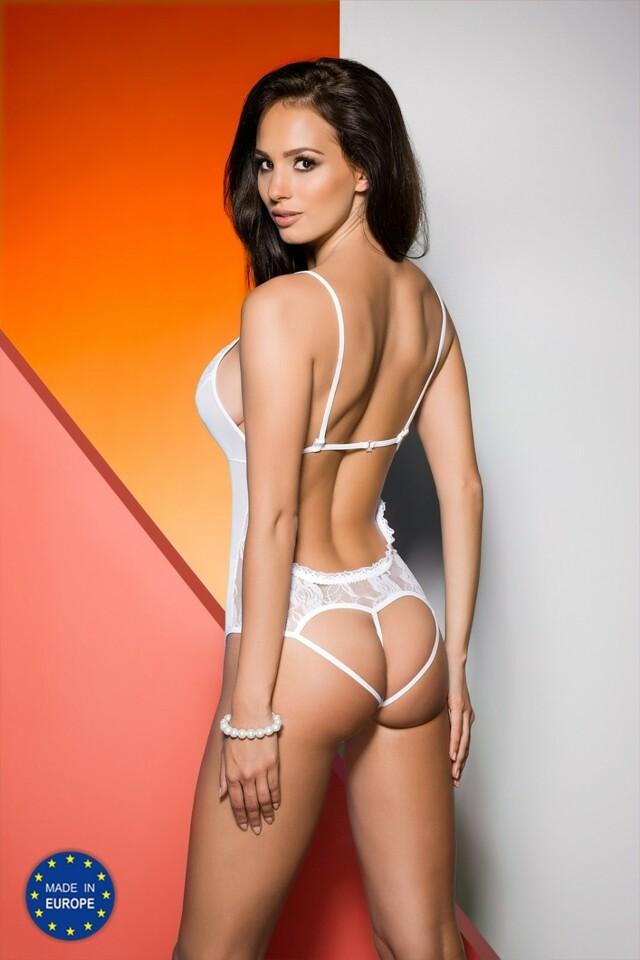 Erotické body Jovita white - S/M - bílá
