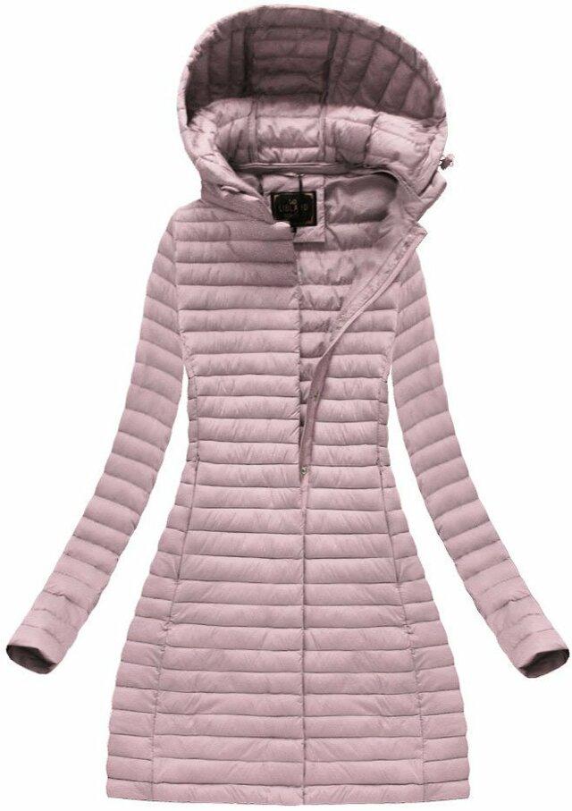 Růžová dámská prošívaná bunda (7222BIG) - 48 - růžová