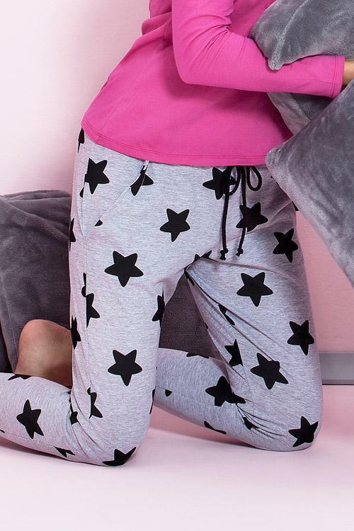 Dámské pyžamo Pigeon P-504/1 dark pink - S - růžová