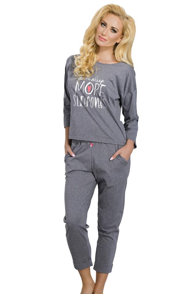 Dámské pyžamo Jamie šedé - XL
