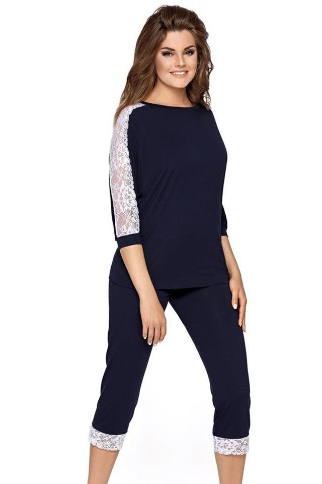 Dámské pyžamo Toscana blue - S - tmavě modrá