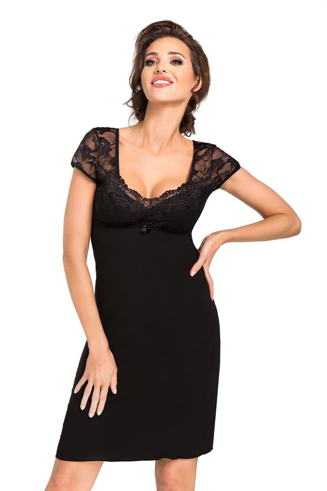 Dámská noční košilka Donna Brigitte - XL - černá