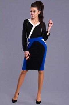 Dámská sukně Y8506 - Emamoda - M - modro-černá