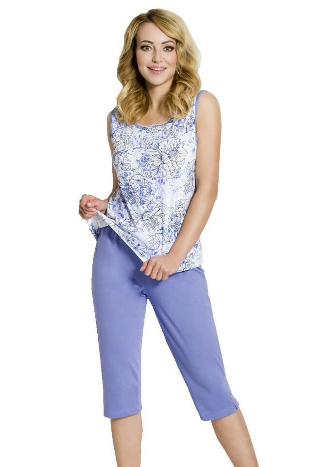 Dámské pyžamo Bela modré - M