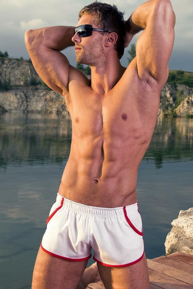 Pánské plavky Alpha Male Imago white