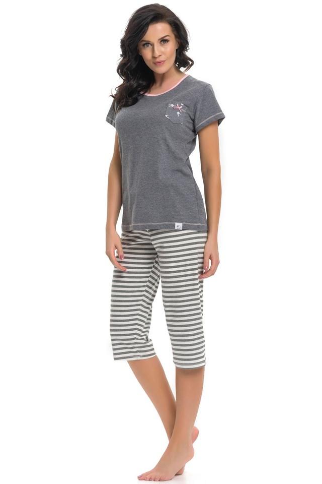 Dámské pyžamo Dn-nightwear PM.9208 - L - dark grey