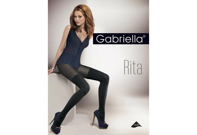 Dámské punčochové kalhoty Gabriella Rita 387 40 den - 2-S - černá