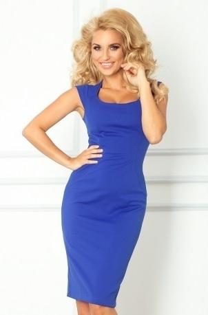 Numoco šaty dámské 53-10 - XL - královská modř