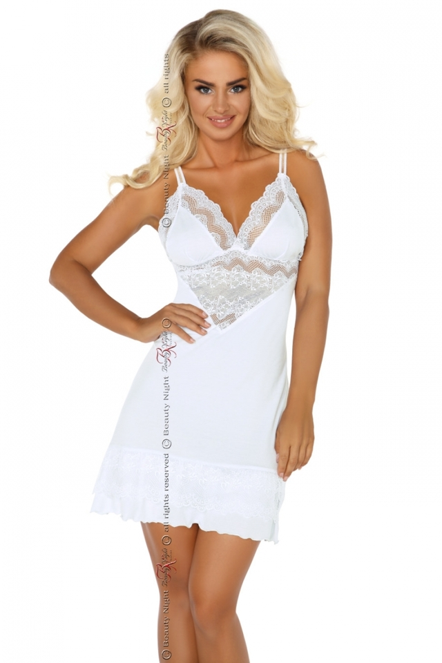 Dámská košilka Petra white - L/XL - bílá