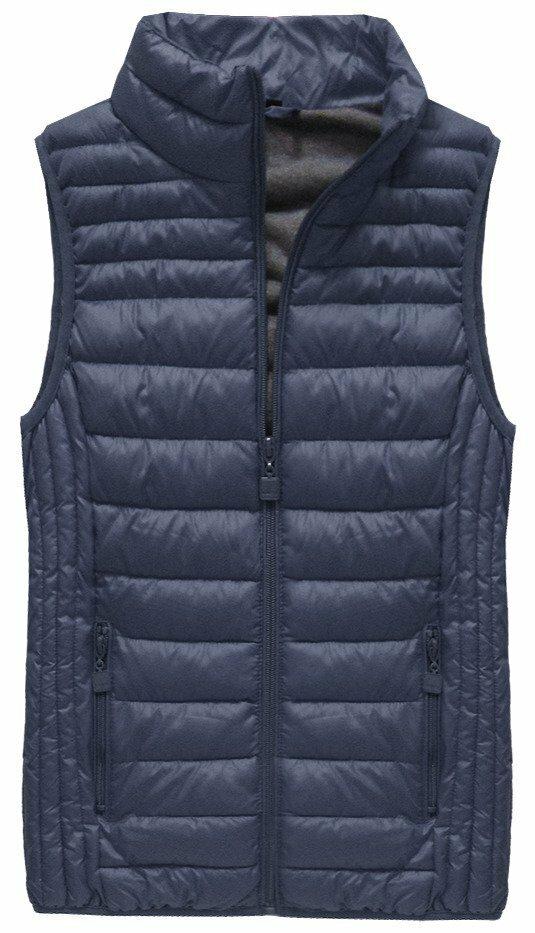 Tmavě modrá prošívaná vesta (B2608-30) - XL (42) - tmavěmodrá