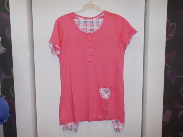 Dámské pyžamo 3106 -Vamp - S - růžová kostky
