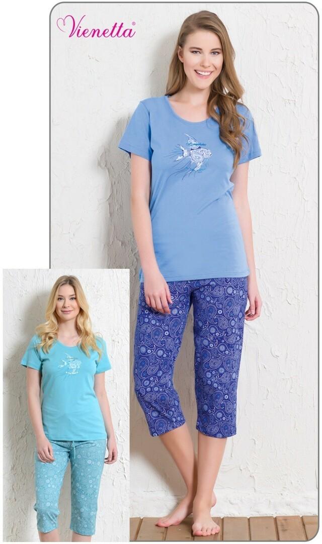 Dámské pyžamo kapri Ryba - modrá S