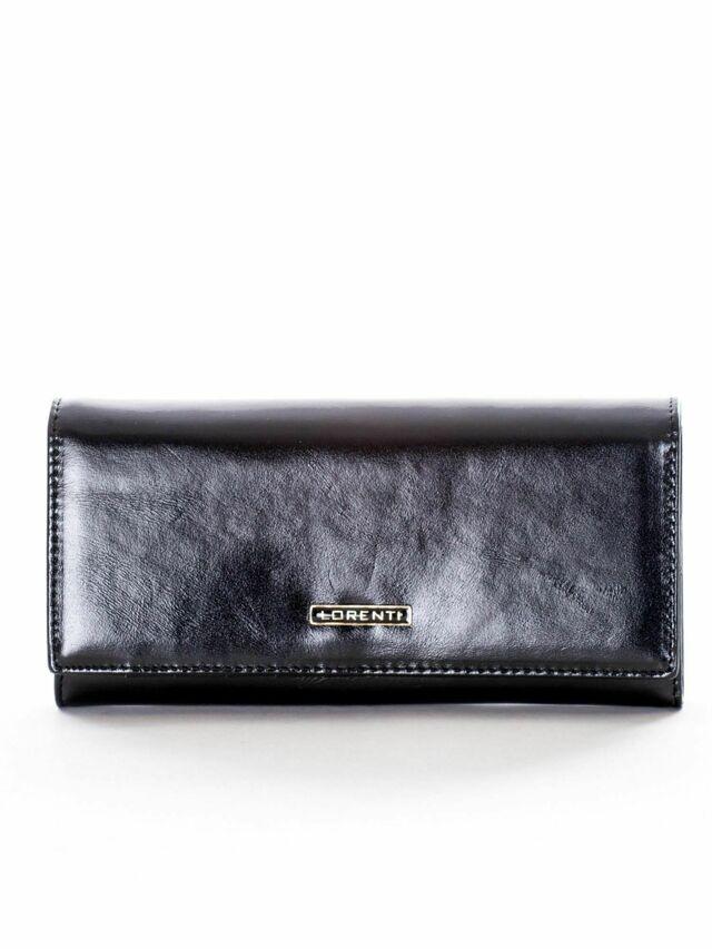 Dámská dlouhá černá kožená peněženka - jedna velikost