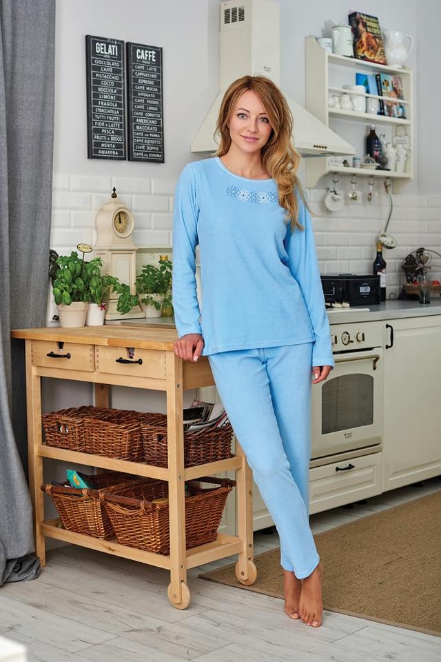 Dámské pyžamo Regina Frotte 741 S-XL dł/r - M - mix