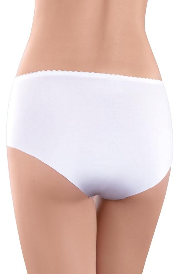 Bavlněné laserové kalhotky Denise bílé - S