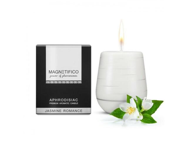 Afrodiziakální vonná svíčka Magnetifico Aphrodisiac Candle Jasmine Romance - Valavani