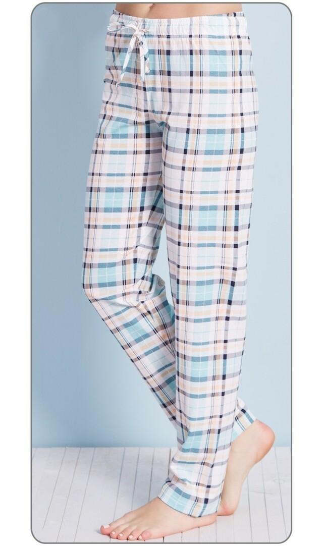 Dámské pyžamové kalhoty Magdalena - zelená XXL