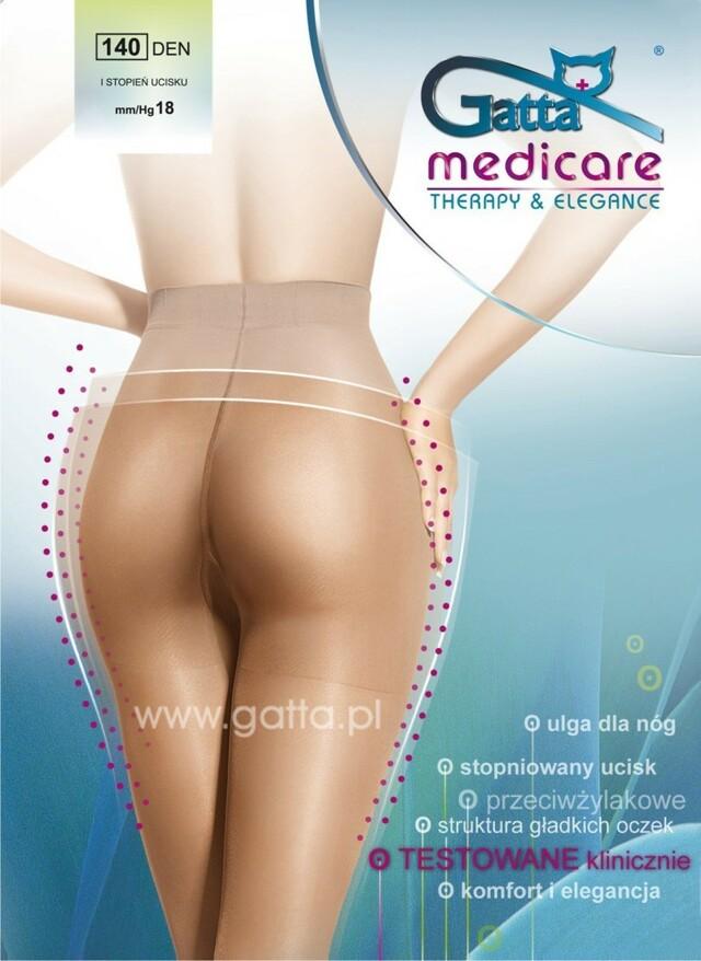 MEDICARE - Dámské kompresní punčochové kalhoty 140 DEN - GATTA - černá - 2-S