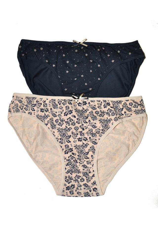 Klasické kalhotky Donella 60365 A'2 - L - tmavěmodrá béžová