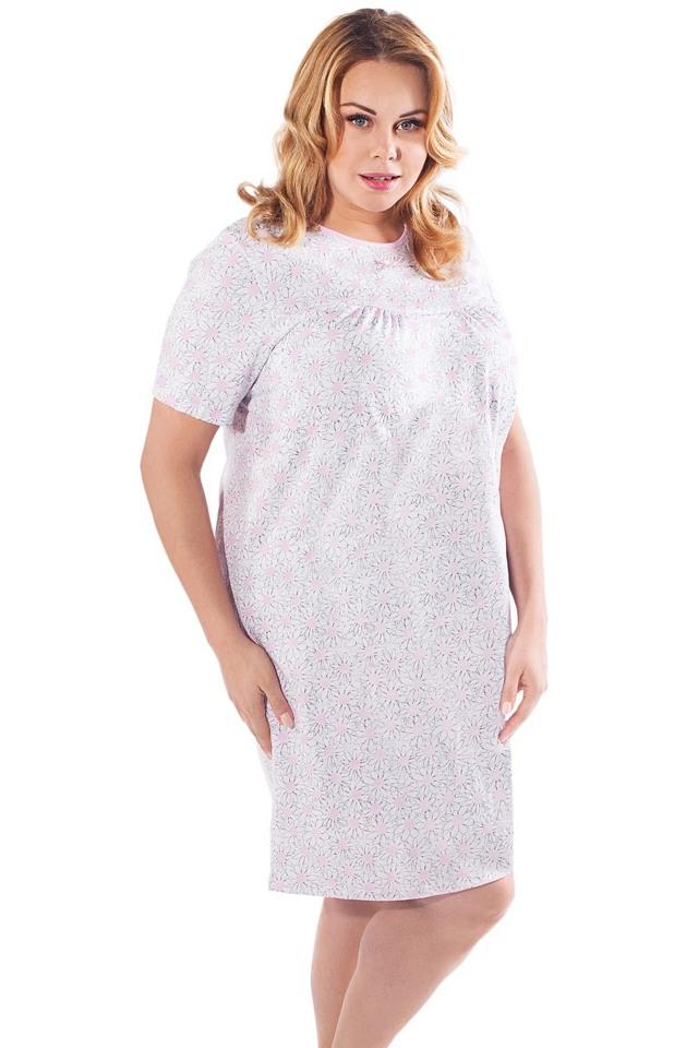 Dámská noční košile Italian Fashion Nadia kr.r. - L - růžová