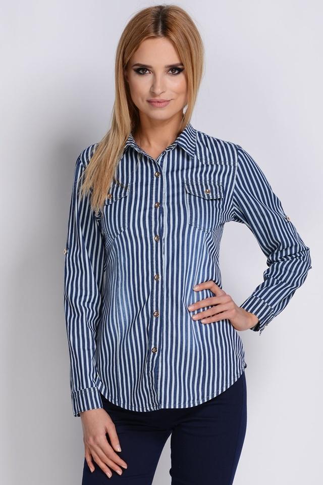 Dámská košile Avaro KS-77 - 2XL - jeans
